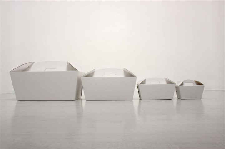 Set of sample event boxes in white